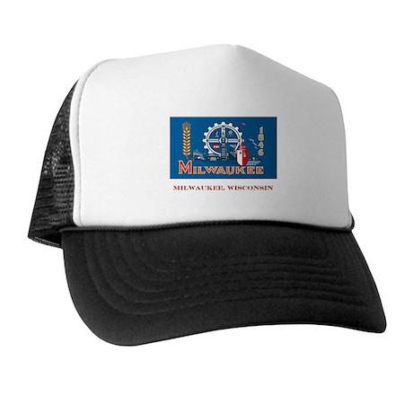 Milwaukee WI Flag Trucker Hat