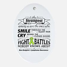 Non-Hodgkins Lymphoma Strongest Oval Ornament
