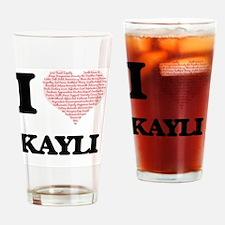 Funny Kayli Drinking Glass