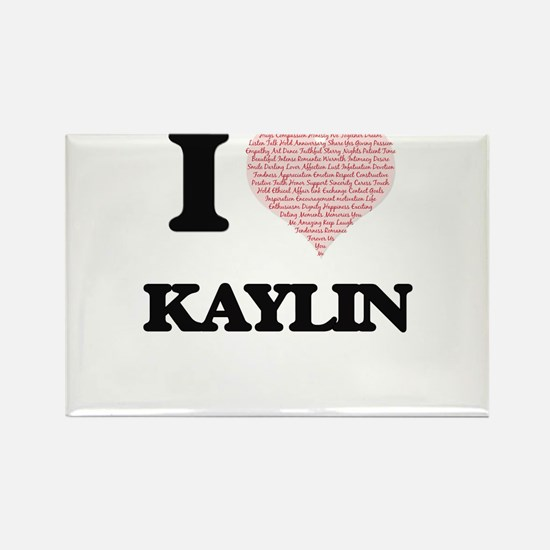 I love Kaylin (heart made from words) desi Magnets