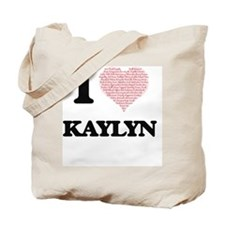 I love Kaylyn (heart made from words) des Tote Bag