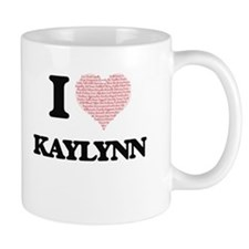 I love Kaylynn (heart made from words) design Mugs