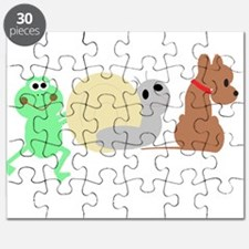 frog, snail, puppy dog Puzzle