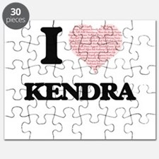 I love Kendra (heart made from words) desig Puzzle