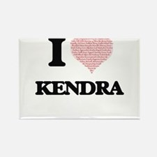 I love Kendra (heart made from words) desi Magnets