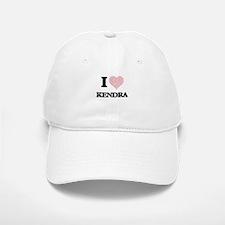 I love Kendra (heart made from words) design Baseball Baseball Cap