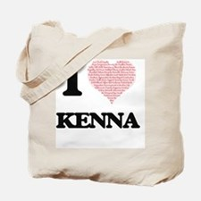 I love Kenna (heart made from words) desi Tote Bag