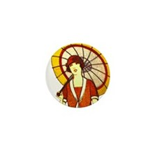 Vintage Umbrella Mini Button