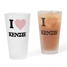 I love Kenzie (heart made from word Drinking Glass