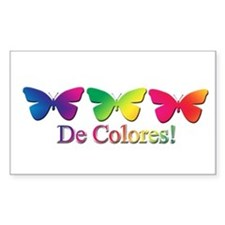 Butterfly DeColores Rectangle Decal