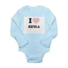I love Keyla (heart made from words) des Body Suit
