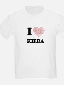 I love Kiera (heart made from words) desig T-Shirt