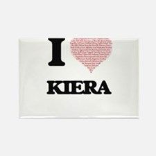 I love Kiera (heart made from words) desig Magnets