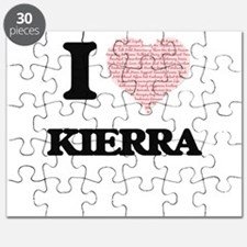 I love Kierra (heart made from words) desig Puzzle