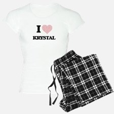 I love Krystal (heart made Pajamas