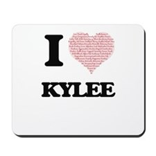I love Kylee (heart made from words) des Mousepad