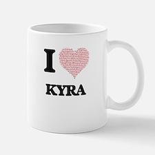 I love Kyra (heart made from words) design Mugs