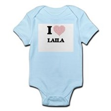 I love Laila (heart made from words) des Body Suit