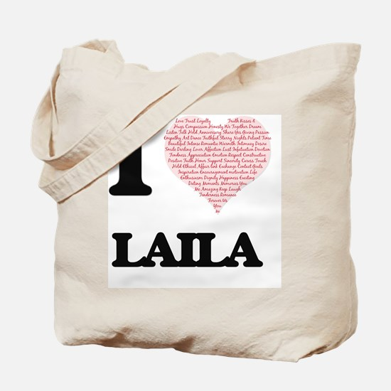 I love Laila (heart made from words) desi Tote Bag