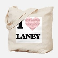 I love Laney (heart made from words) desi Tote Bag