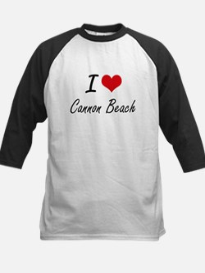 I love Cannon Beach Oregon artisti Baseball Jersey