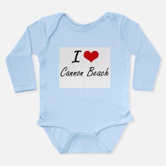 I love Cannon Beach Oregon artistic desi Body Suit