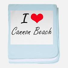 I love Cannon Beach Oregon artistic d baby blanket