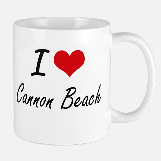 I love Cannon Beach Oregon artistic design Mugs