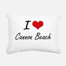 I love Cannon Beach Oreg Rectangular Canvas Pillow