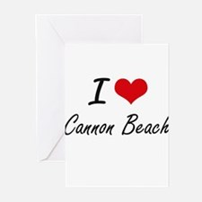 I love Cannon Beach Oregon artistic Greeting Cards