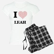 I love Leah (heart made fro Pajamas