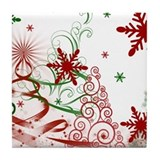 Christmas Tile Coasters
