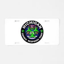 MI ZRT Green Aluminum License Plate