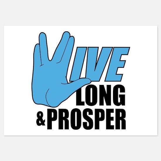 Live Long Prosper 5x7 Flat Cards