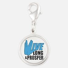 Live Long Prosper Silver Round Charm