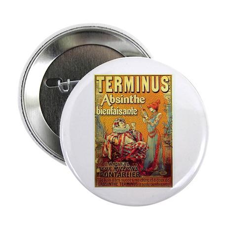"Terminus Absinthe 2.25"" Button (100 pack)"