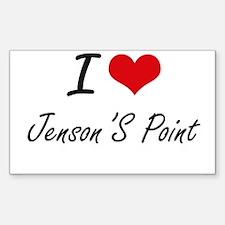 I love Jenson'S Point Texas artistic desi Decal