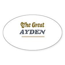 Ayden Oval Decal