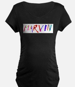 Marvin Personalized Wind Swept Maternity T-Shirt