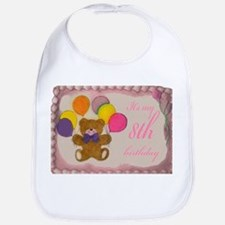 Girl 8th Birthday Bib