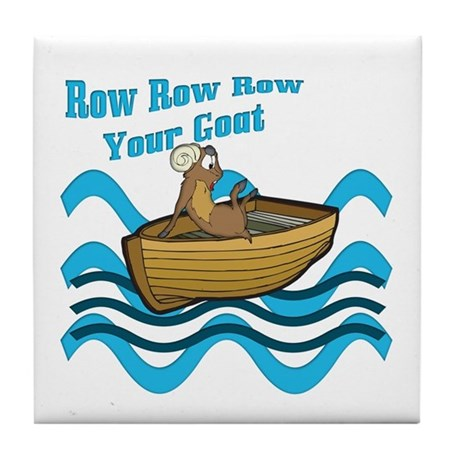 Row Your Goat Tile Coaster