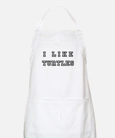 I Like Turtles BBQ Apron