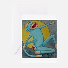 Bonnie Blue Sock Monkey Greeting Cards (Pk of 10)
