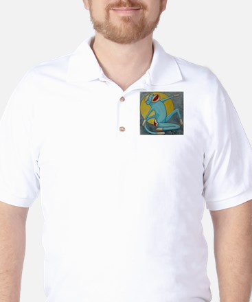 Bonnie Blue Sock Monkey Golf Shirt