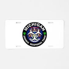 MI ZRT White Aluminum License Plate