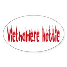 Vietnamese Hottie Oval Decal