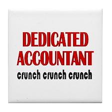 Dedicated Accountant Tile Coaster