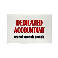 Dedicated Accountant Rectangle Magnet