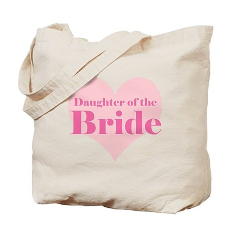 Daughter of the Bride pink he Tote Bag