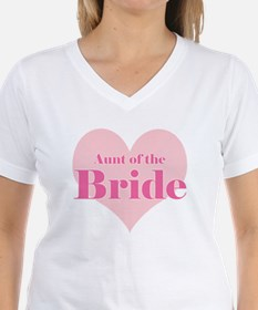 Aunt of the Bride pink heart Shirt